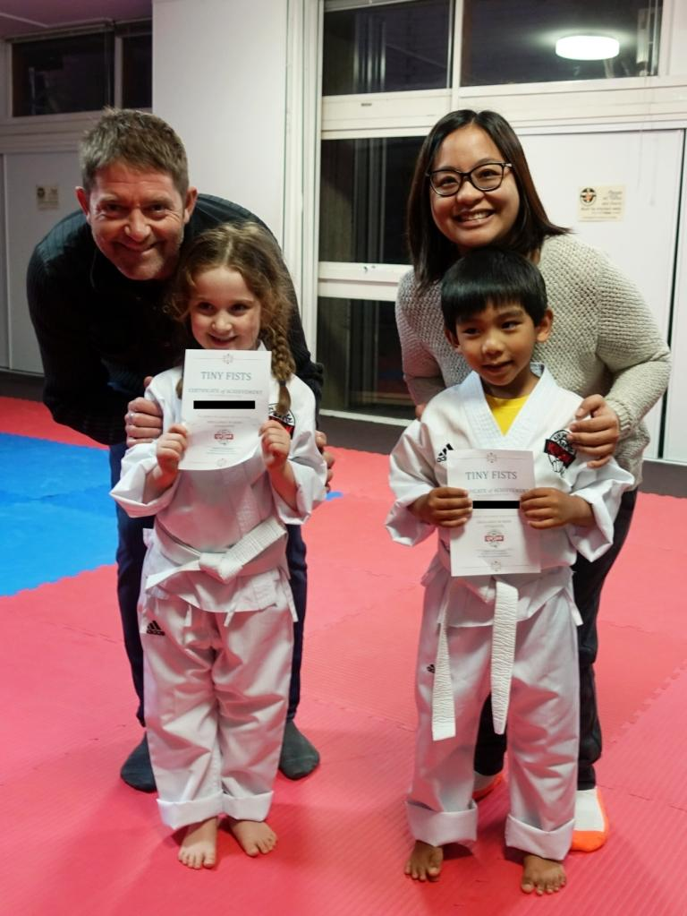 Certificates of achievement with new belt tags to come!